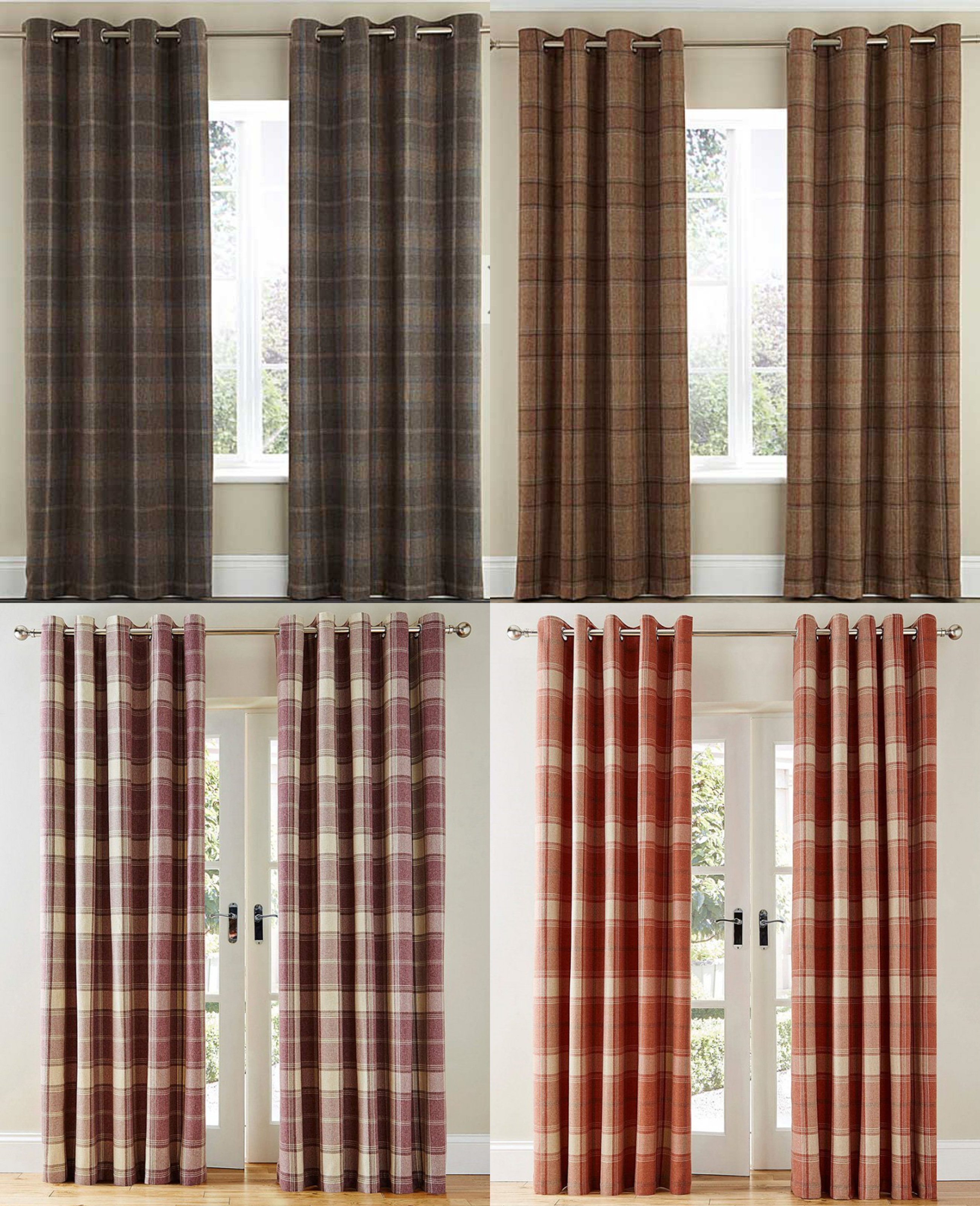 Good Quality Curtains Uk Part - 50: The Curtains Have A Tartan Checked Design On A Quality Wool Effect Finish.  The Curtains