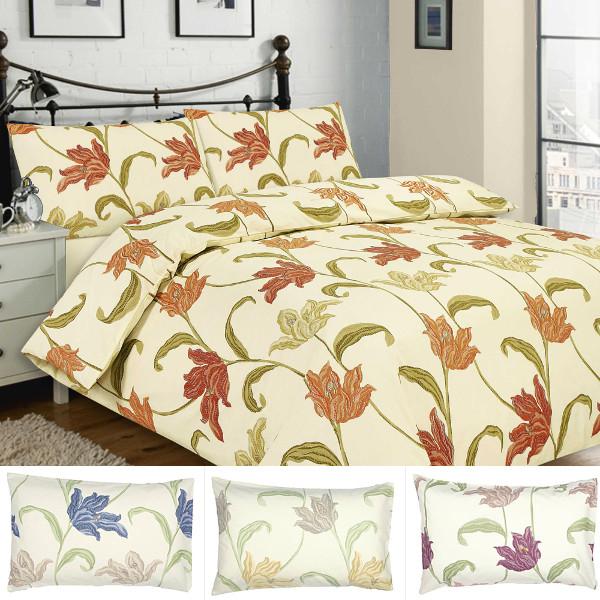 Kinsale Floral Duvet Cover Amp Pillowcase Set In Blue Rose