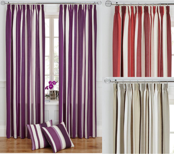 ... Of Tape Top Fully Lined Ready Made Curtains Natural Plum Red | eBay