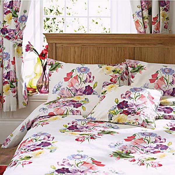 Bouquet 3 Pass Imprimé Thermique Blackout Rideaux Fleuris conçu par Wendy Tait