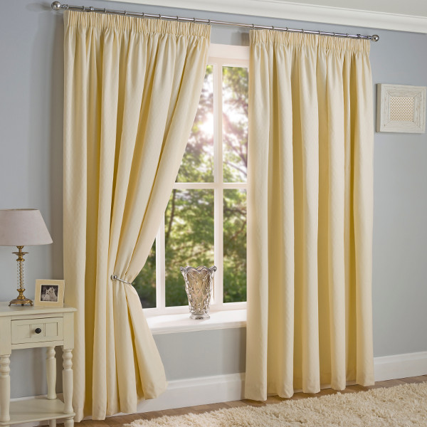 Cream Lined Tape Top Curtains
