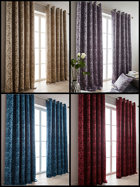 Blackout Faux Silk Curtains