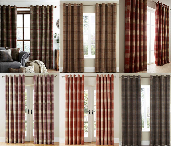 The Curtains Have A Tartan Checked Design On Quality Wool Effect Finish Hang Beautifully To Compliment Any Room And Are Ideal For Modern