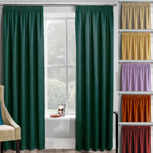 Velour Plain Dyed Pencil Pleat Curtains Have A Classic Design Which Is Ideal For Traditional Or Contemporary Setting Add The Matching Tie Backs Cushion